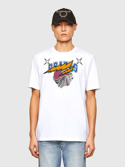 Diesel - CL-T-JUST-O1, Bianco - T-Shirts - Image 1