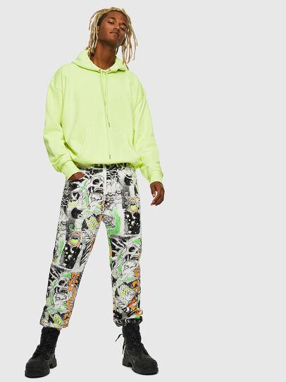 Diesel - S-ALBY-FLUO, Neongelb - Sweatshirts - Image 7