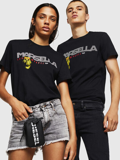 Diesel - LCP-T-DIEGO-MARSELLA, Schwarz - T-Shirts - Image 6