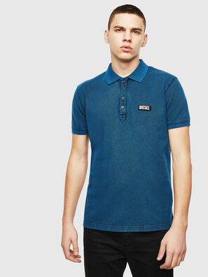 T-RANDY-NEW-S3, Blau - Polohemden
