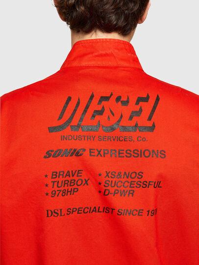 Diesel - J-HALLS-PRINT, Orange - Vestes - Image 4