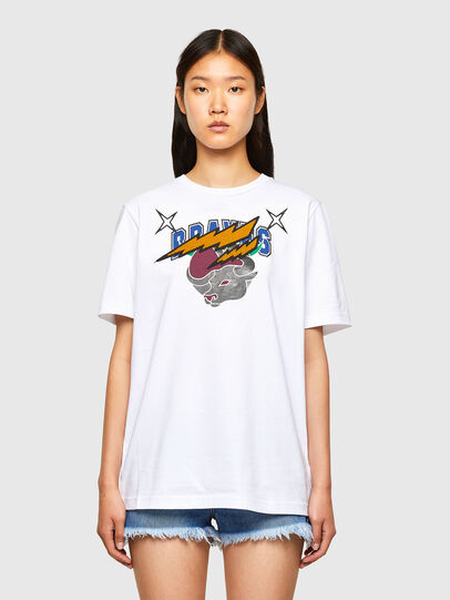 Diesel - CL-T-JUST-O1, Bianco - T-Shirts - Image 2