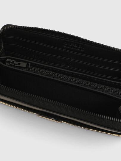 Diesel - GRANATO LC, Gold/Schwarz - Portemonnaies Zip-Around - Image 3
