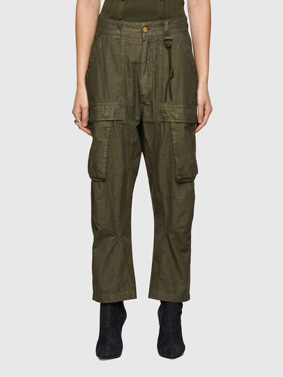 Diesel - P-EMMA, Verde Militare - Pantaloni - Image 1