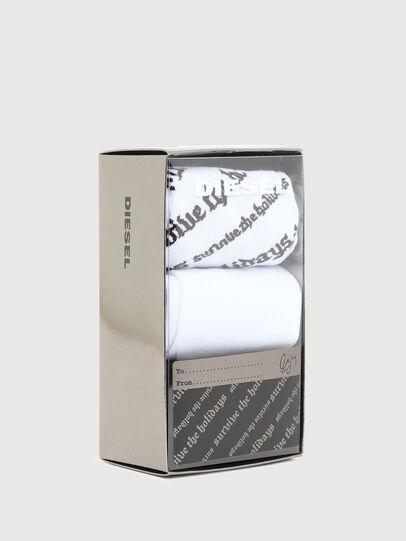 Diesel - SKM-HERMINE-THREEPAC, Blanc/Noir - Chaussettes - Image 2