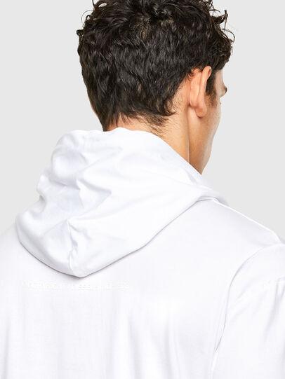 Diesel - T-FONTAL-LS-HOOD, White - T-Shirts - Image 4