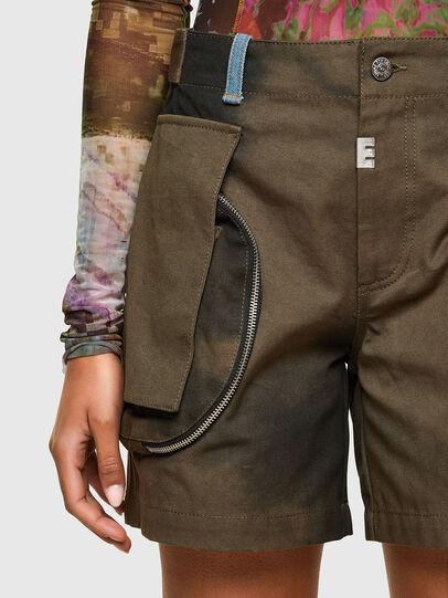 Diesel - S-JANE, Verde Militare - Shorts - Image 3
