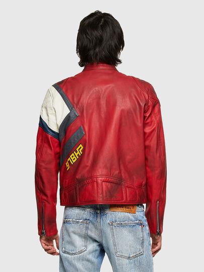 Diesel - L-POWER, Blanc/Rouge - Vestes de cuir - Image 2