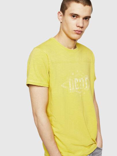 Diesel - T-DIEGO-CUT-A, Gelb - T-Shirts - Image 3