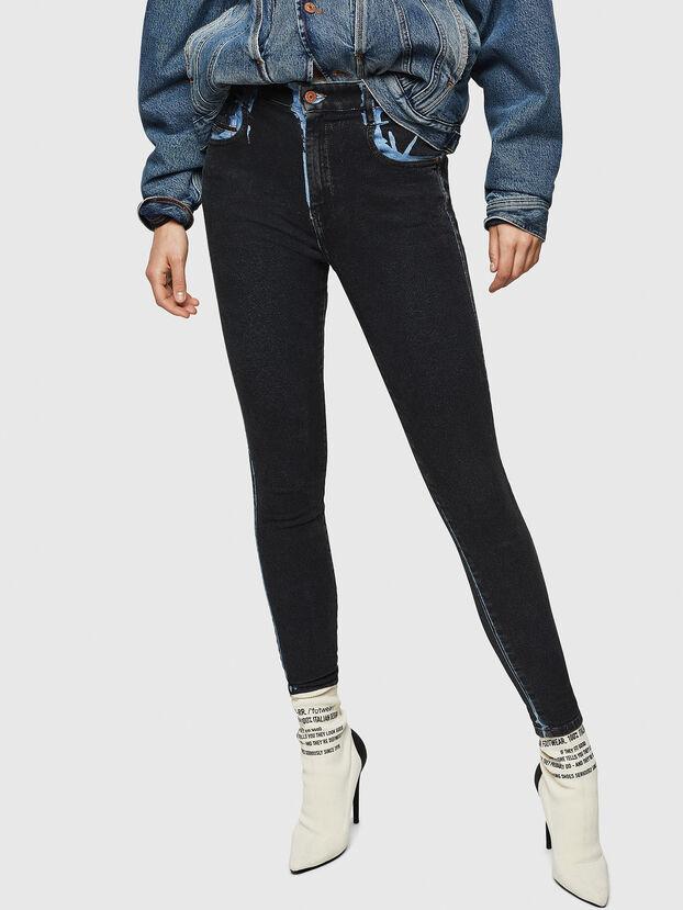 Slandy High 0094B, Dunkelblau - Jeans