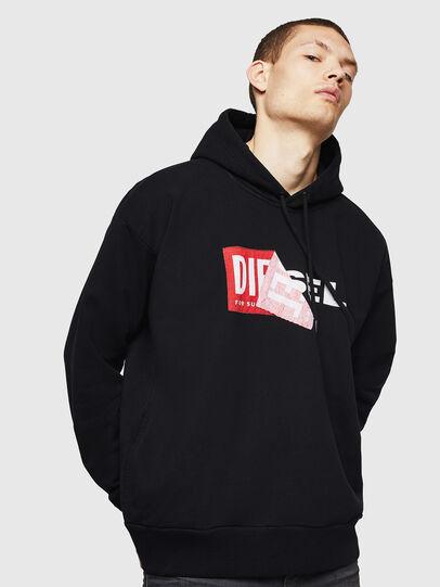 Diesel - S-ALBY, Schwarz - Sweatshirts - Image 1