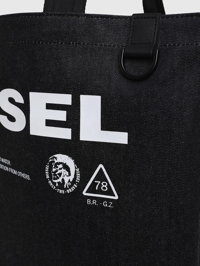 Diesel - F-THISBAG SHOPPER NS, Dunkelblau - Shopper und Schultertaschen - Image 3