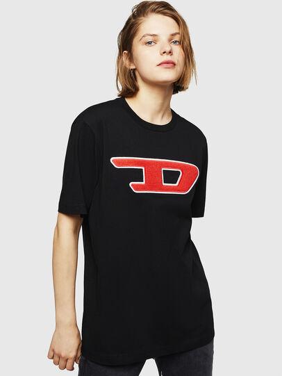 Diesel - T-JUST-DIVISION-D-FL, Schwarz - T-Shirts - Image 1