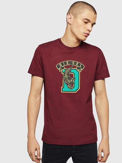 Diesel - T-DIEGO-B4, Bordeauxrot - T-Shirts - Image 1