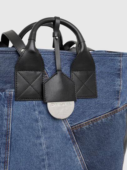Diesel - LEENA, Blue - Shopping and Shoulder Bags - Image 7
