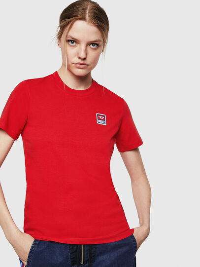 Diesel - T-SILY-ZE, Feuerrot - T-Shirts - Image 1