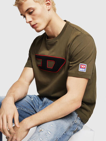 Diesel - T-JUST-DIVISION-D, Armeegrün - T-Shirts - Image 4