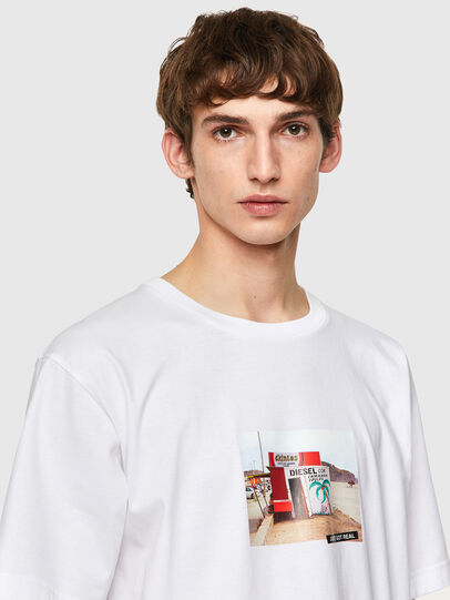 Diesel - T-TUBOLAR-B2, Weiß - T-Shirts - Image 3