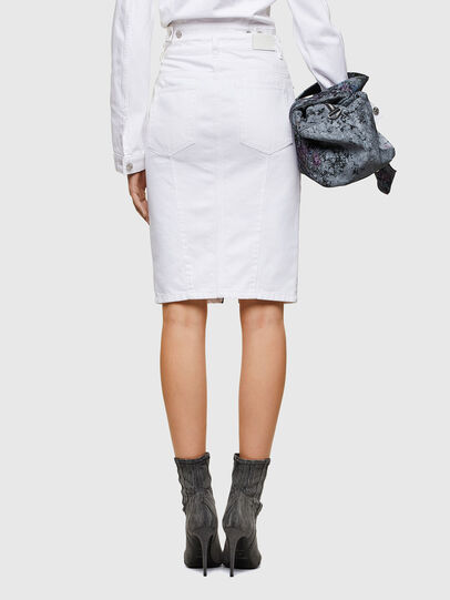Diesel - DE-PENCIL-ZIP, White - Skirts - Image 2