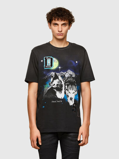 Diesel - T-JUST-A37, Nero - T-Shirts - Image 1