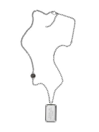 Diesel - NECKLACE DX1019, Silber - Halsketten - Image 1