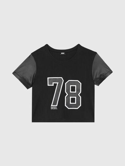 Diesel - UFTEE-ROUNDIE-SAT, Noir - T-Shirts - Image 1