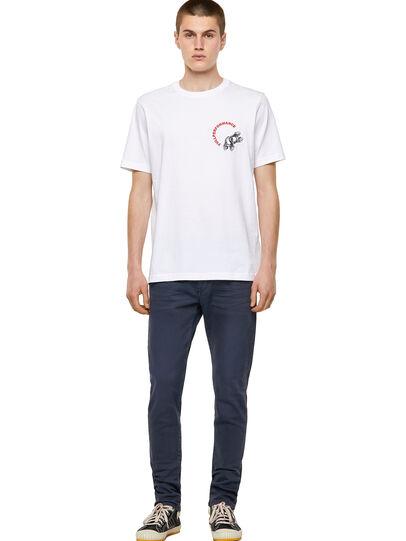 Diesel - T-JUST-B55, Weiß - T-Shirts - Image 4