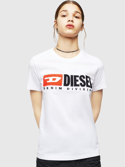 Diesel - T-SILY-DIVISION, Weiß - T-Shirts - Image 1