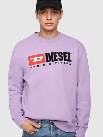 Diesel - S-CREW-DIVISION, Lila - Sweatshirts - Image 1