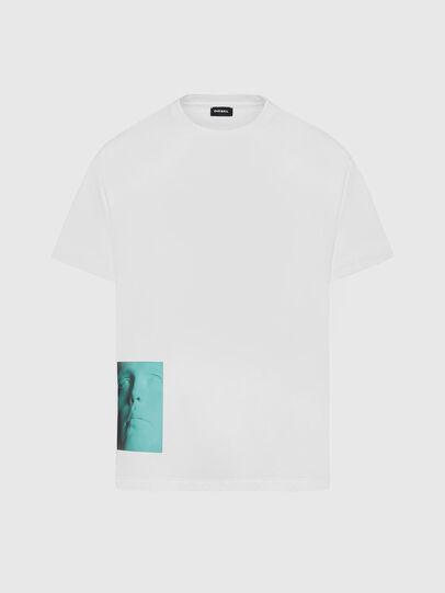 Diesel - T-JUST-SLITS-X81, Weiß - T-Shirts - Image 1