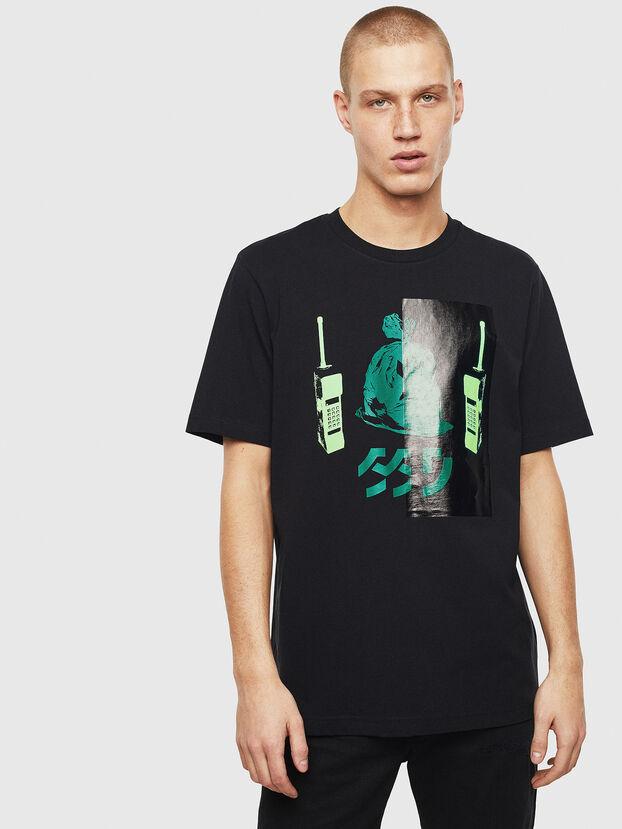 T-JUST-T30, Schwarz - T-Shirts