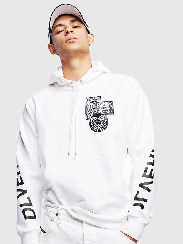 S-GIRK-HOOD-S4, Weiß - Sweatshirts
