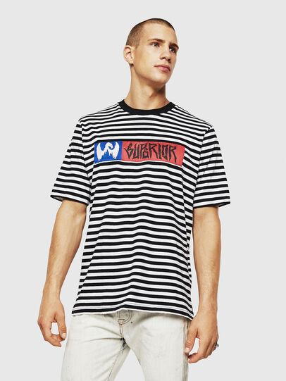 Diesel - T-VIKTOR, Schwarz/Weiß - T-Shirts - Image 1