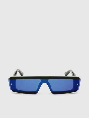 DL0318, Schwarz/Blau - Sonnenbrille