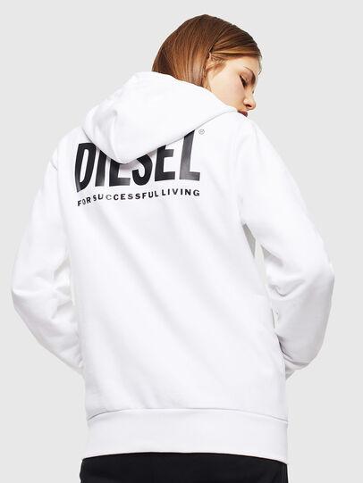 Diesel - S-GIRK-HOOD-ZIP-LOGO, Weiß - Sweatshirts - Image 4