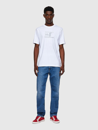 Diesel - T-JUST-A35, Bianco - T-Shirts - Image 4