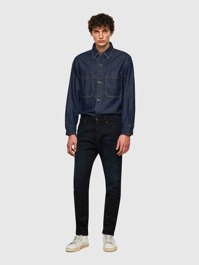 Diesel - D-Fining-Chino 084AY, Blu Scuro - Jeans - Image 4