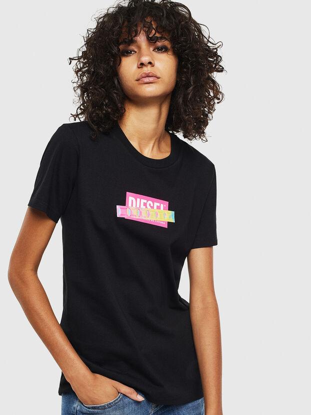 T-SILY-S2, Schwarz/Rosa - T-Shirts