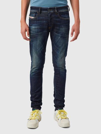 Diesel - Sleenker 09B07, Bleu Foncé - Jeans - Image 1