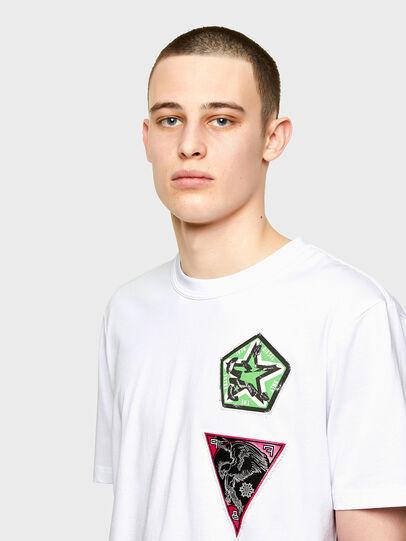 Diesel - T-JUBIND-SLITS-E1, Bianco - T-Shirts - Image 3