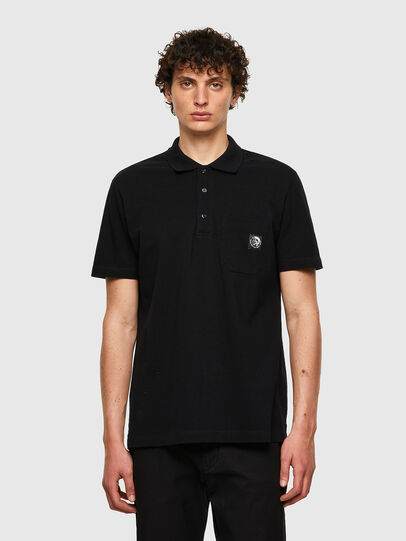 Diesel - T-POLO-WORKY, Noir - Polos - Image 1