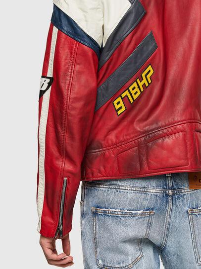 Diesel - L-POWER, Blanc/Rouge - Vestes de cuir - Image 4