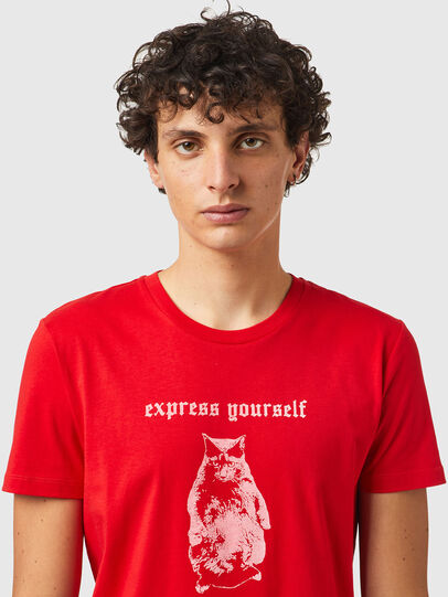 Diesel - T-INY-B2, Rouge - T-Shirts - Image 3