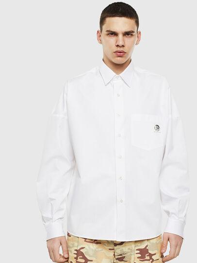 Diesel - S-LOOMY, Weiß - Hemden - Image 1