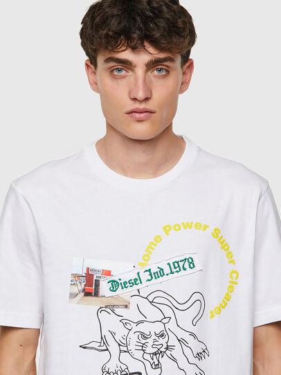 Diesel - T-JUST-B60, Blanc - T-Shirts - Image 3