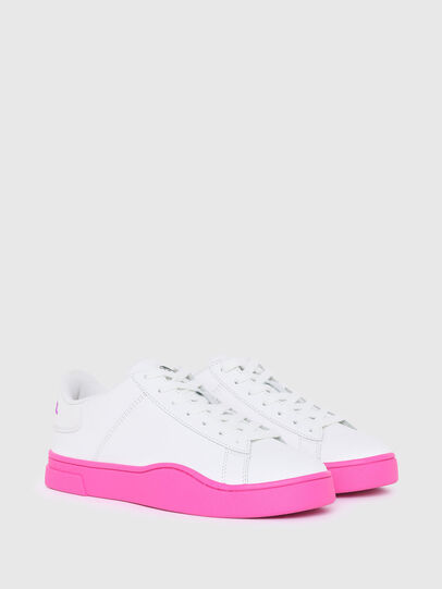 Diesel - S-CLEVER LOW LACE W, Blanc/Rose - Baskets - Image 2