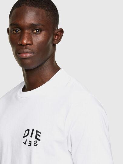 Diesel - T-JUST-SLITS-A30, Bianco - T-Shirts - Image 3