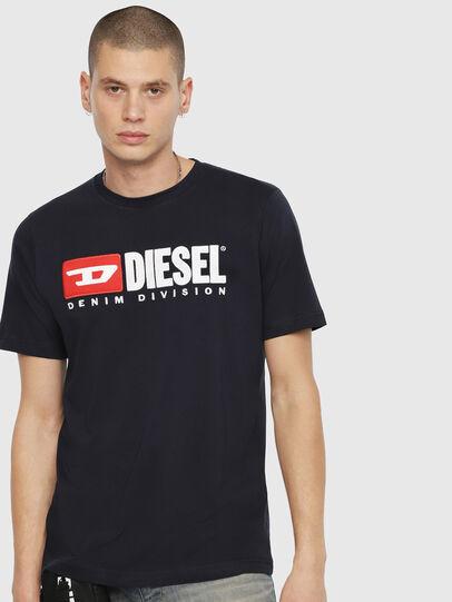Diesel - T-JUST-DIVISION, Dunkelblau - T-Shirts - Image 1
