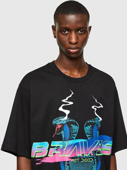 Diesel - T-DELPHI-E1, Nero - T-Shirts - Image 3