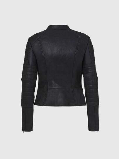 Diesel - L-IGE-NEW, Noir - Vestes de cuir - Image 2